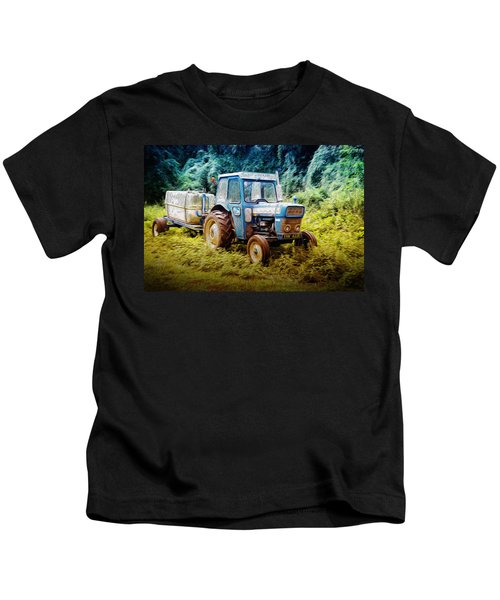 Old Blue Ford Tractor Kids T-Shirt