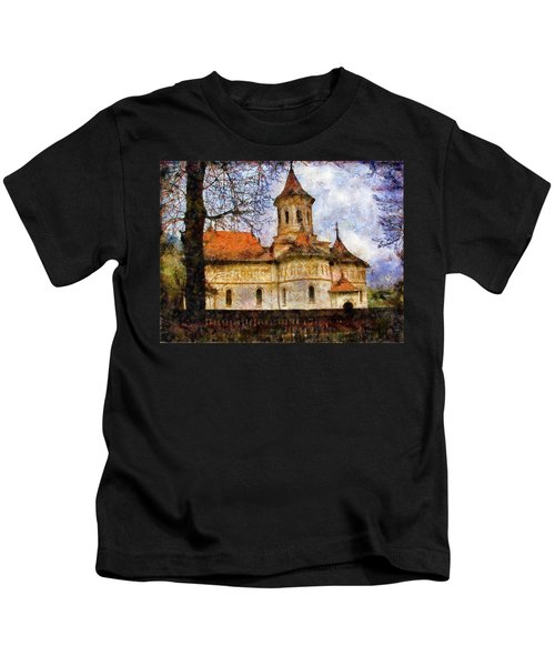 Old Church With Red Roof Kids T-Shirt