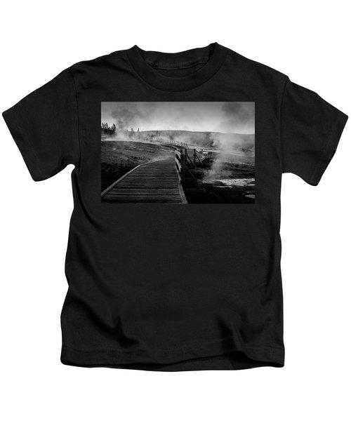 Old Faithful Boardwalk Kids T-Shirt