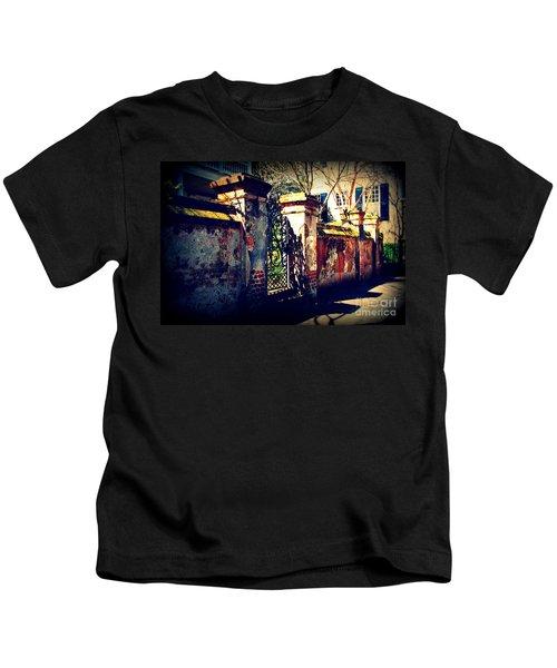 Old Iron Gate In Charleston Sc Kids T-Shirt
