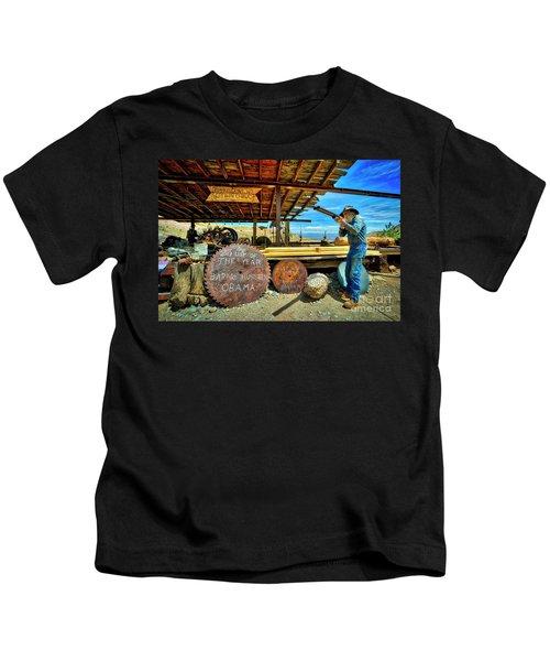 Old Man With Gun Kids T-Shirt