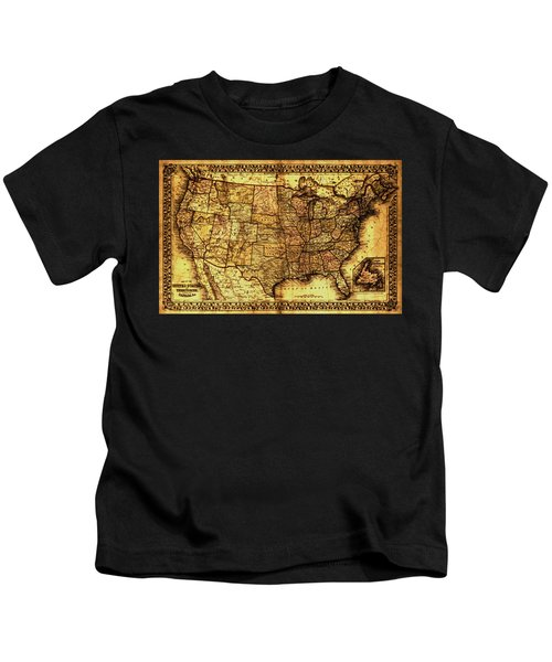Old Map United States Kids T-Shirt