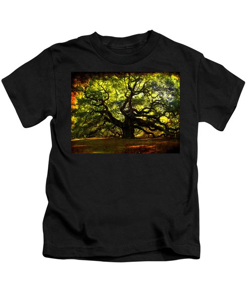 Old Old Angel Oak In Charleston Kids T-Shirt
