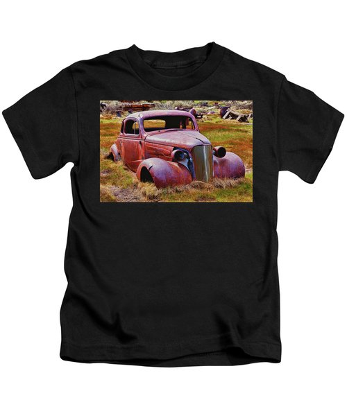 Old Rusty Car Bodie Ghost Town Kids T-Shirt