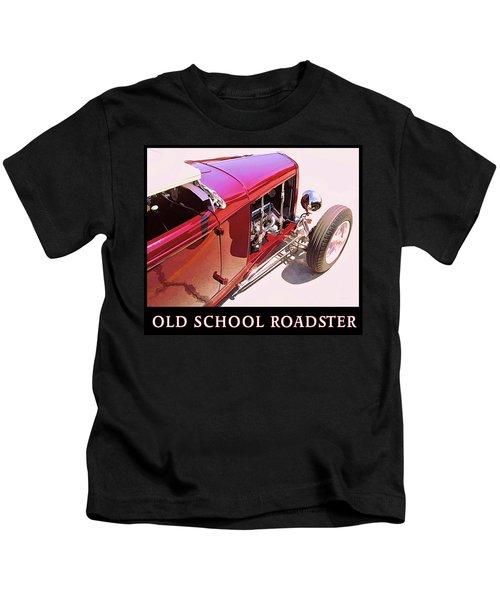 Old School Roadster Title Kids T-Shirt