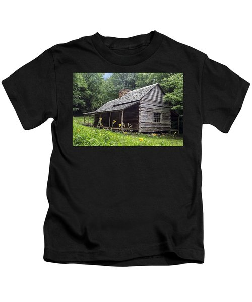 Old Settlers Cabin Smoky Mountains National Park Kids T-Shirt