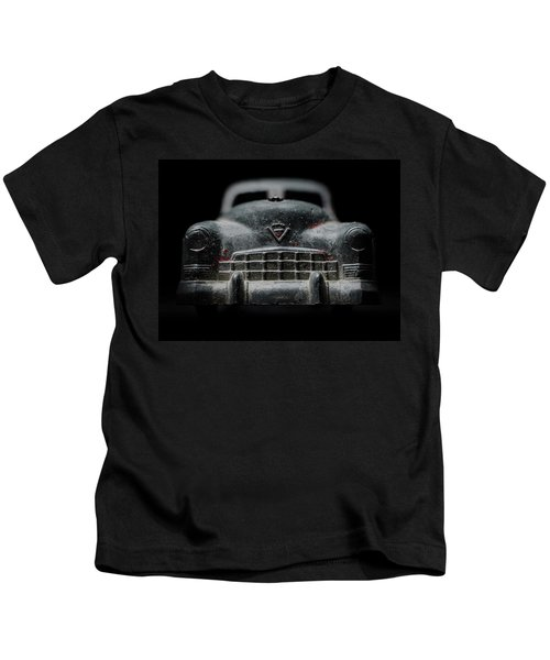 Old Silver Cadillac Toy Car With Specks Of Red Paint Kids T-Shirt
