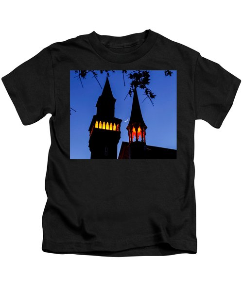 Old Town Hall Crescent Moon Kids T-Shirt