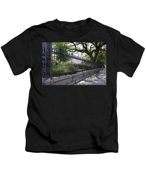 Old Tree And Ornate Fence Kids T-Shirt