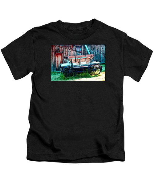 old Wagon In Bodie Kids T-Shirt