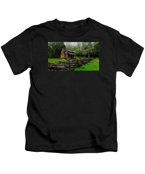 Oliver's Cabin Among The Dogwood Of The Great Smoky Mountains National Park Kids T-Shirt
