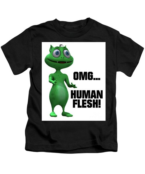 Omg... Human Flesh Kids T-Shirt