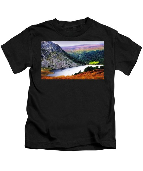 On The Shore Of Lough Tay. Wicklow. Ireland Kids T-Shirt