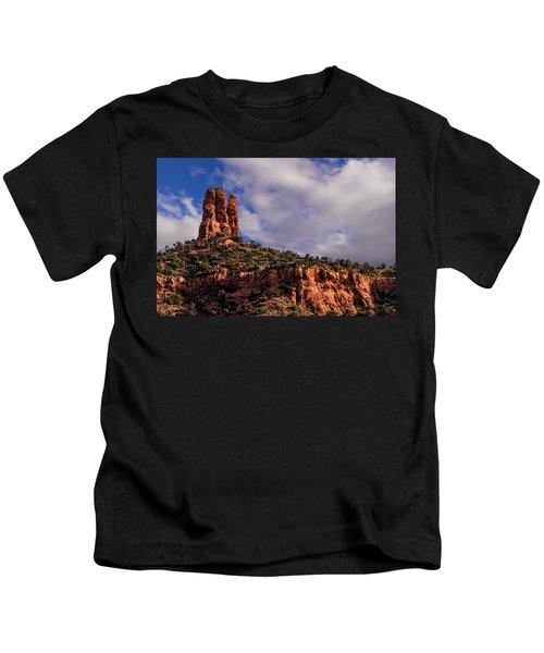 One Finger Shy Kids T-Shirt