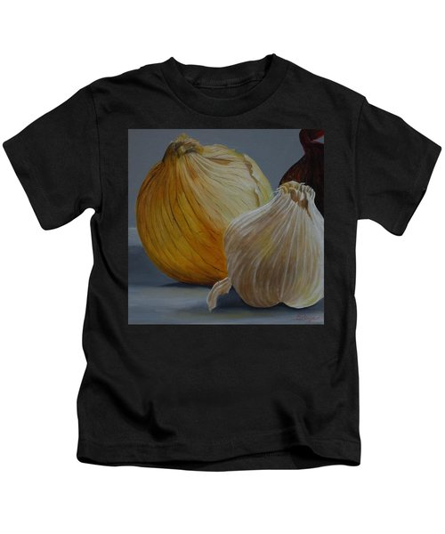 Onions And Garlic Kids T-Shirt