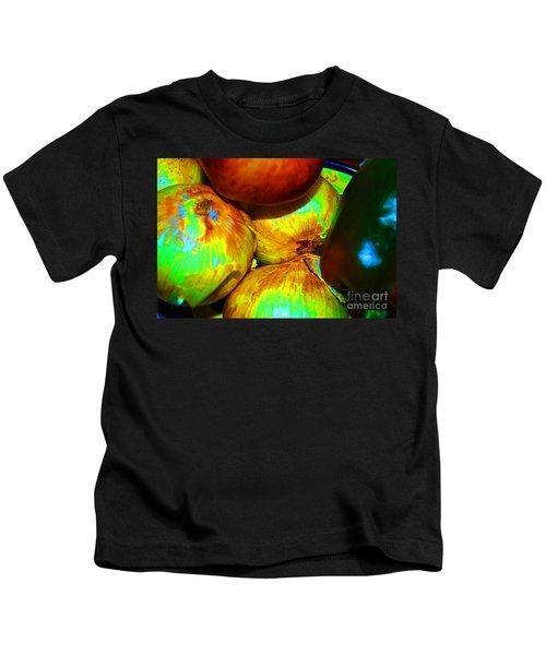 Onions Apples Pepper Closeup Kids T-Shirt