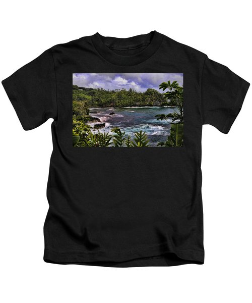 Onomea Bay Hawaii Kids T-Shirt
