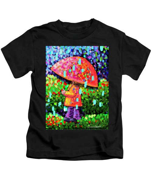 Rainy Day Stroll Kids T-Shirt