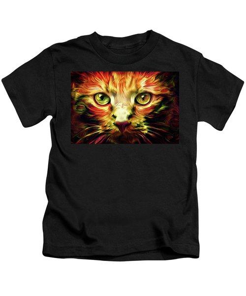 Orange Cat Art - Feed Me Kids T-Shirt