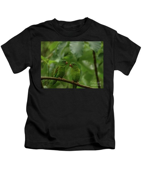 Orange-chinned Parakeets-  Kids T-Shirt