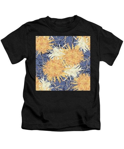 Orange Cobwebs Pattern Kids T-Shirt
