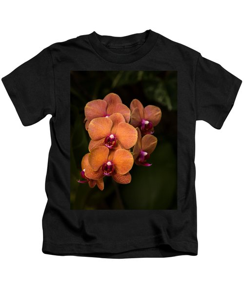 Orange Orchids Kids T-Shirt