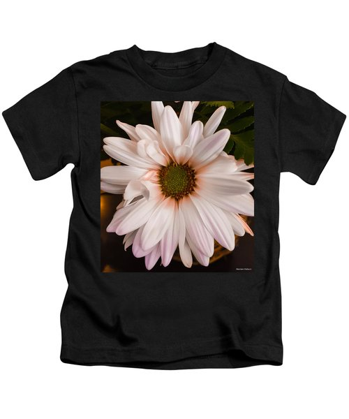 Kids T-Shirt featuring the photograph Orange Pastel Daisy by Marian Palucci-Lonzetta