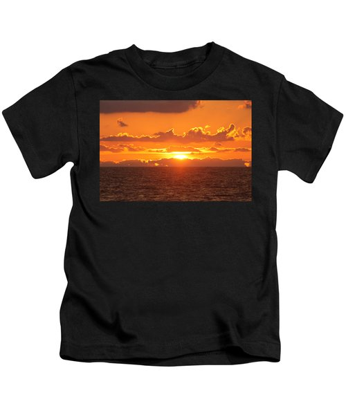 Orange Skies At Dawn Kids T-Shirt