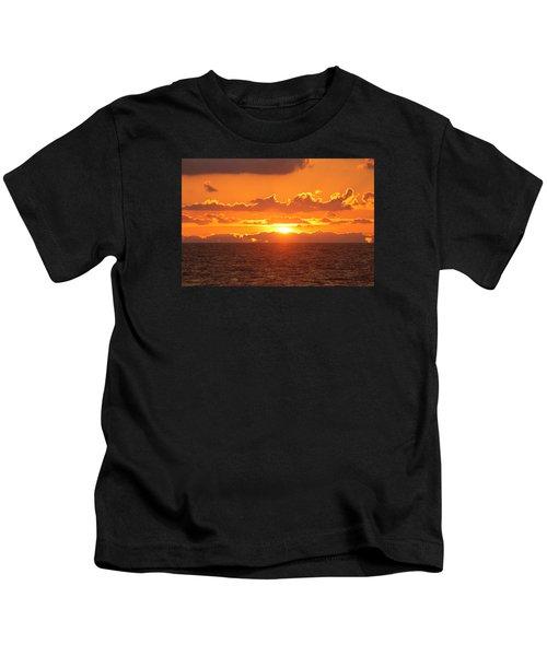 Orange Skies At Dawn Kids T-Shirt