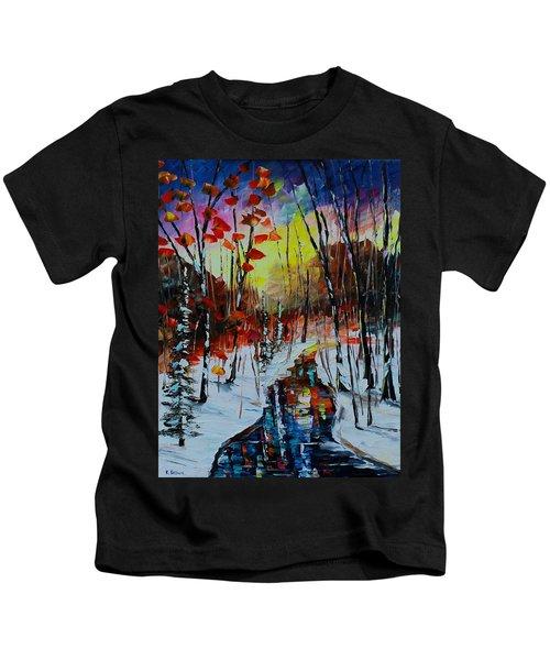 Orange Winter Kids T-Shirt