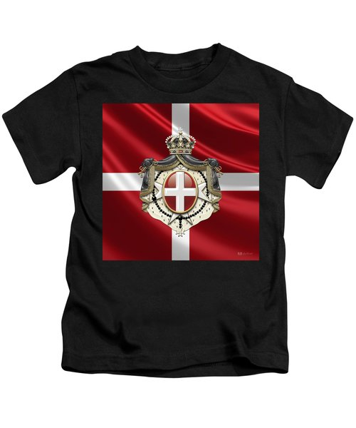 Order Of Malta Coat Of Arms Over Flag Kids T-Shirt