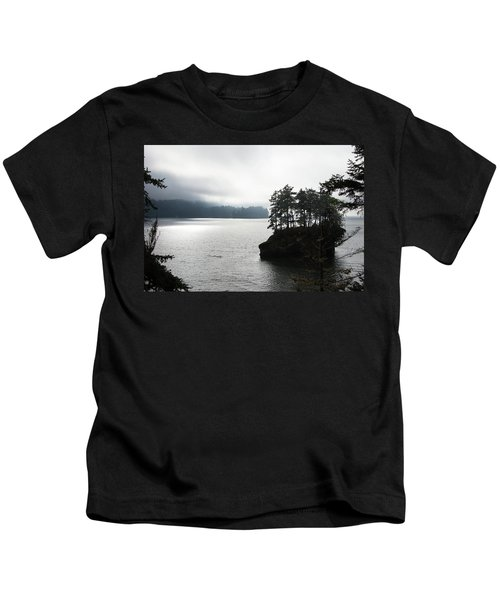 Oregon Coast Fog Kids T-Shirt