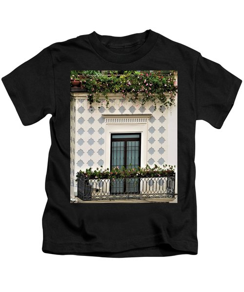 Overlooking The Piazza Kids T-Shirt