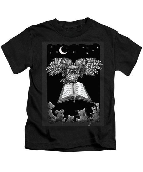 Owl And Friends Blackwhite Kids T-Shirt