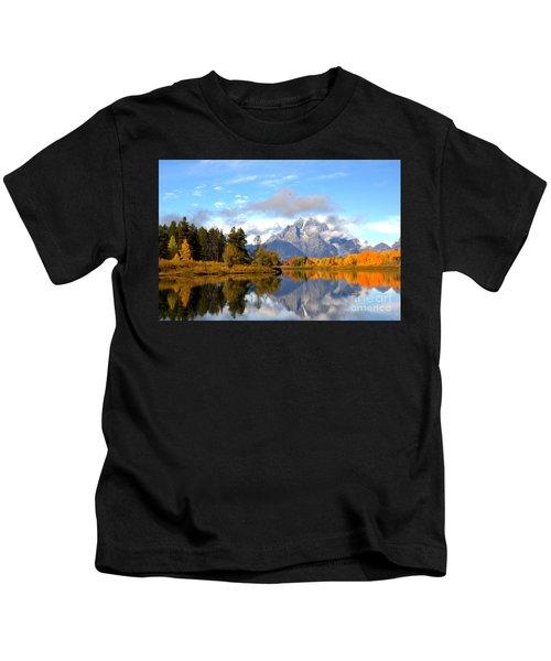 Mt Moran At Oxbow Bend Kids T-Shirt
