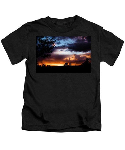 Pagosa Sunset 11-20-2014 Kids T-Shirt