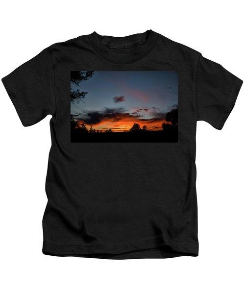 Pagosa Sunset 11-30-2014 Kids T-Shirt