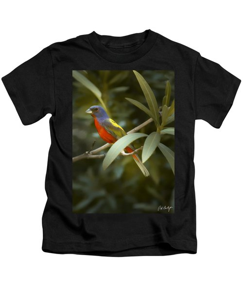 Painted Bunting Male Kids T-Shirt