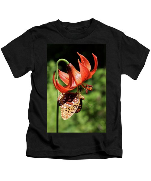 Painted Lady On Lily Kids T-Shirt