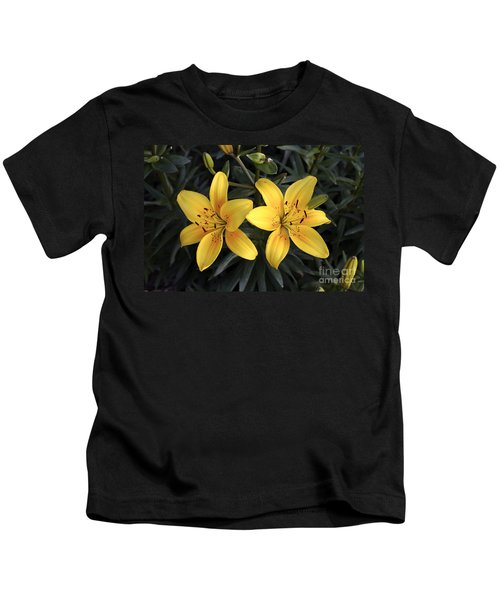 Pair Of Yellow Lilies Kids T-Shirt
