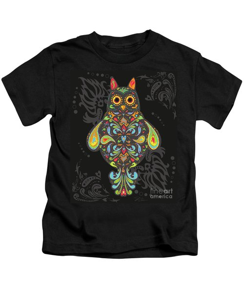 Paisley Owl Kids T-Shirt