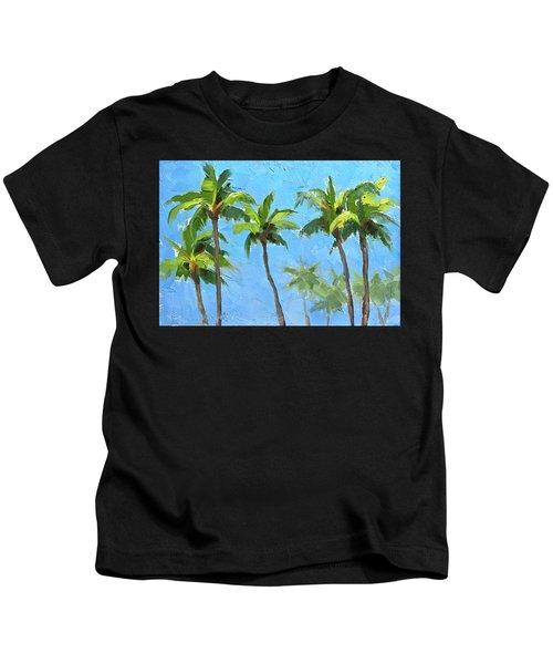 Palm Tree Plein Air Painting Kids T-Shirt