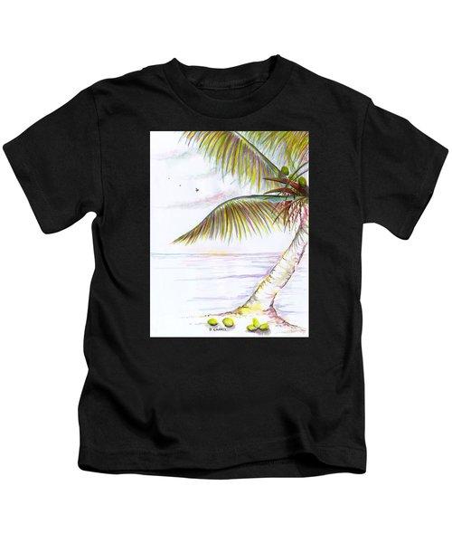 Palm Tree Study Three Kids T-Shirt