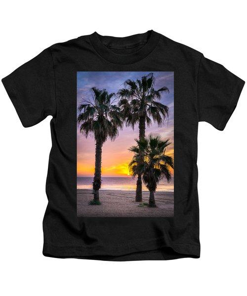 Palm Tree Sunrise. Kids T-Shirt