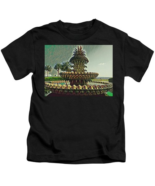 Palms And Pineapples Kids T-Shirt
