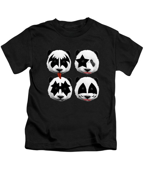 Panda Kiss  Kids T-Shirt