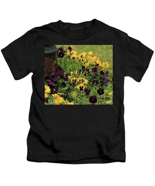 Pansies Kids T-Shirt