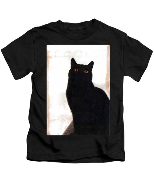 Panther The British Shorthair Cat Kids T-Shirt