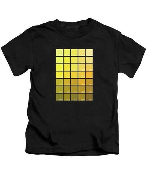 Pantone Shades Of Yellow Kids T-Shirt