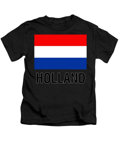 Parchment Flag Holland Kids T-Shirt